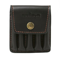 Tourbon Leather Rifle Ammo Holder Wallet Shell Pouch Bullet Hunting 5 Cartridges