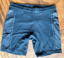 Lululemon Mens LARGE- BLack/ Grey Check-Its Asana Shorts Hot Yoga/ Swim