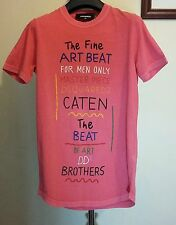 DSQUARED 2 T-shirt Rosa Taglia XS MADE IN ITALY RRP - £ 150