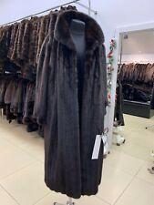 women mink fur long coat size XXXL genuine 100% real brown color 1109067