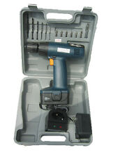 """3/8"""" 12v Cordless Drill Driver Kit 16Pc Set Reversible W/ Battery & Charger New"""