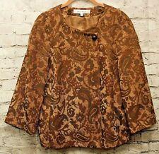 Harve Benard Tapestry Jacket 14 Paisley Rayon Blend Multi-Color 3/4 Sleeve