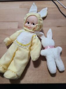 "Vintage Jesco Kewpie Doll Yellow Bunny jump suit 8"" 1987 Vinyl"
