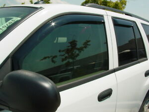 GMC Envoy 2002-2008 Wind deflectors In-Channel