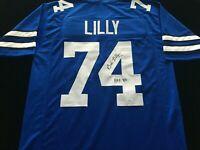 Bob Lilly Signed Autographed Blue Football Jersey JSA COA Dallas Cowboys Great