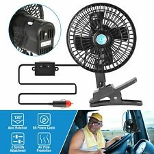 12V Auto Car Fan Vehicle Dashboard Portable Clip-On Oscillating Cooling Fan