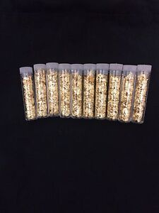 NEW LOT OF TEN (10) Gold Leaf Loose Flakes Scrap Yellow Gold Flakes