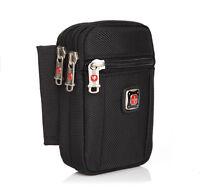 Nylon Swissgear Mobile Phone Pouch Pack Wallet Belt Waist Bag 4.7 5.5inch + Belt