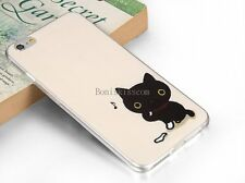Lovely Black Cat Protective Soft Case Skin Back Cover for Apple iPhone 6 Plus