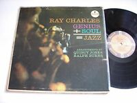 Ray Charles Genius + Soul = Jazz 1961 Stereo LP VG+