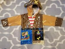 Kidorable Boy's Raincoat Rain Jacket Pirate Theme Size 3T Toddler, halloween