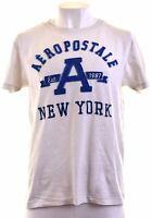 AEROPOSTALE Mens Graphic T-Shirt Top Large White Cotton  G201