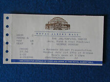 George Benson - Concert Tour Ticket - 1/7/1996 - Royal Albert Hall