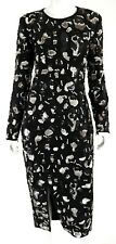 MICHAEL KORS $7,500 NWT Fall 2017 Black & Silver Sequin Embellished Dress 10