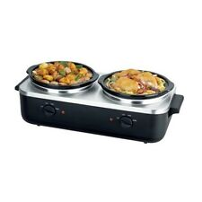 NEW NutriChef PKBFWM26 Dual Pot Electric Slow Cooker Food Warmer/Buffet Server