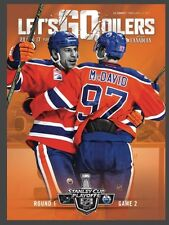 2017 Oilers McDavid First Playoffs Goal Program Oil Country Game 2 April 14 2017
