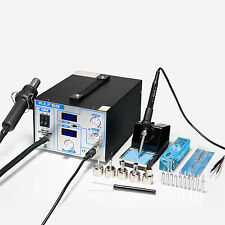 WEP-952D+ SMD ESD SAFE 2 IN 1 HOT AIR REWORK SOLDERING IRON STATION NEW UK 2018
