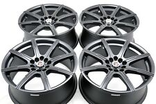 17 matt black wheels rims Galant Civic Camry Prius Corolla Eclipse 5x100 5x114.3