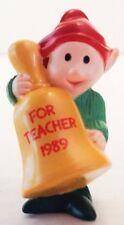 Hallmark Merry Miniatures Elf For Teacher Bell 1989