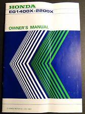 PRINTED 1983 HONDA GENERATOR EG1400X & 2200X OWNER'S MANUAL (372)