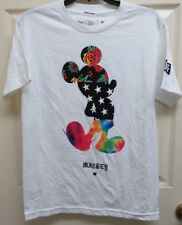 Neff Disney Mickey Mouse S Paisley, Stars, Floral White Graphic T-Shirt NWOT