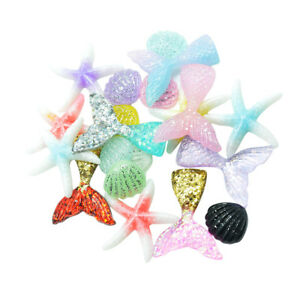 20pc Glitter Sequined Decoden Flatback Cabochons Embellishment for DIY Craft