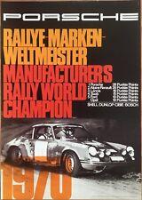 Poster Reprint, Porsche 911 Marken Weltmeister 1970, Shell, Dunlop, Bosch, Cibie