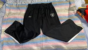 Vintage Men's Oakland Raiders Equipment Athletic Pants XL Reebok NFL