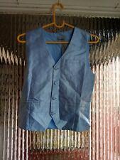 New Boys Blue Beautiful Detailed  waistcoat Age UK 11 years