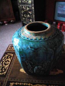 Chinese Turquoise Colour Glazed Pottery vase