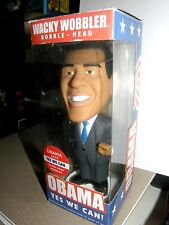 "Wacky Wobbler  ""Barack Obama"" {talk""s ""YES WE CAN""}    Rare collector"