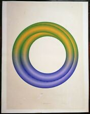 Large Mitsuo Katsui serigraph signed
