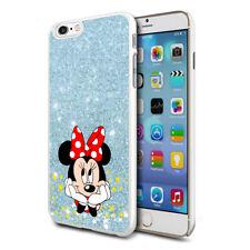 Glitter Effect Disney Minnie Hard Case Cover For Samsung Apple Huawei HTC - 22