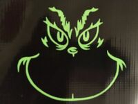 "GRINCH SMILE DR SEUSS STOLE CHRISTMAS  DECAL VINYL WALL CAR 5"""
