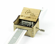 Celine Dion - My Heart Will Go On / Hand Crank Paper Strip Wooden Music Box