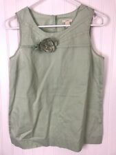 J.Crew Womens size 2 flower floral light green blouse shirt lightweight box39