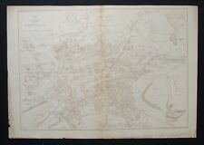 Antique Map: Edinburgh by Benjamin Davies, Weekly Dispatch Atlas, c 1860
