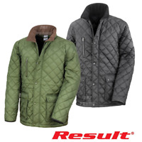 RESULT CLASSIC QUILTED JACKET SMART WARM FLEECE LINED HORSE RIDING UNISEX XS-3XL