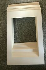 """40 TEXTURED WHITE PICTURE FRAME MOUNTS 12"""" X 8"""" OVERALL FOR 9 X 6 PRINT PHOTO"""