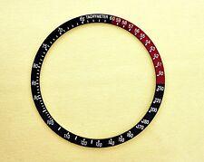 NEW SEIKO COKE BLACK RED BEZEL INSERT FOR 6139, 6139-6032 WATCH NR-093