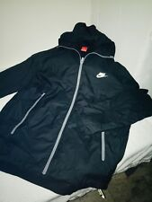 Rare Nike Windrunner Jacket Windbreaker Nylon Glanz Black Reflective Large