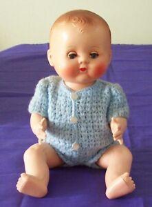 Rosebud Doll England Vintage Hard Plastic Toy