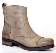 XYXYX Stiefelette 41 Echt- LEDER Braun beige Used Vintage Look geile Boots NEU