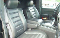 Fits 05-07 Hummer H2 Luxury Gray Vinyl Leather Center Console Armrest Cover Skin