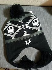 New Nightmare Before Christmas Jack Fair Isle Pom Beanie Peruvian Hat Cap