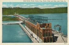 1940 Postcard - Safe Harbor Water Power Corp. Power Plant & Dam - York PA