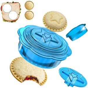 6 Pieces Uncrustable Decruster Sandwich Maker - Round Crust Sandwich Cutters a
