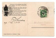 NORWAY/POLAR: Postcard to Denmark from Fram, Amundsen, Polhavet 1914, scarce(B2)