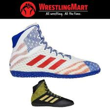 New Adidas Mat Wizard Hype Wrestling Shoe Black, Gold, White, Royal, Red 7-10.5
