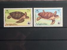 SCOTT #539-540 1983 ANGUILLA STAMPS MNH TURTLES WWF